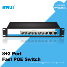 10/100M Extender 250meters 8 ports POE Switch with 2 Uplink Ethernet port POE switch
