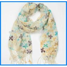 Шерстяной шарф, женский шарф, печатный шарф