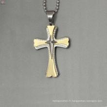 Pendentif jésus en acier inoxydable à la mode, trois pendentif croix, pendentif en or conçoit des femmes