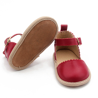 Christmas Leather Baby Shoes