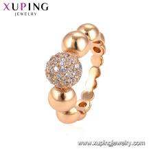 15071 xuping joyería mujer anillos de joyería de moda de oro de cobre ambiental