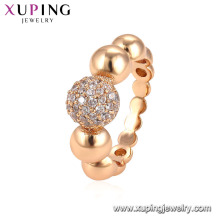 15071 xuping ювелирные изделия женщины окружающей среды медные золотые кольца ювелирные изделия