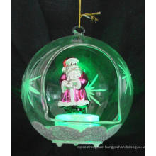 Glass Christmas Father Ornament with LED Light (KL90226-22-10)