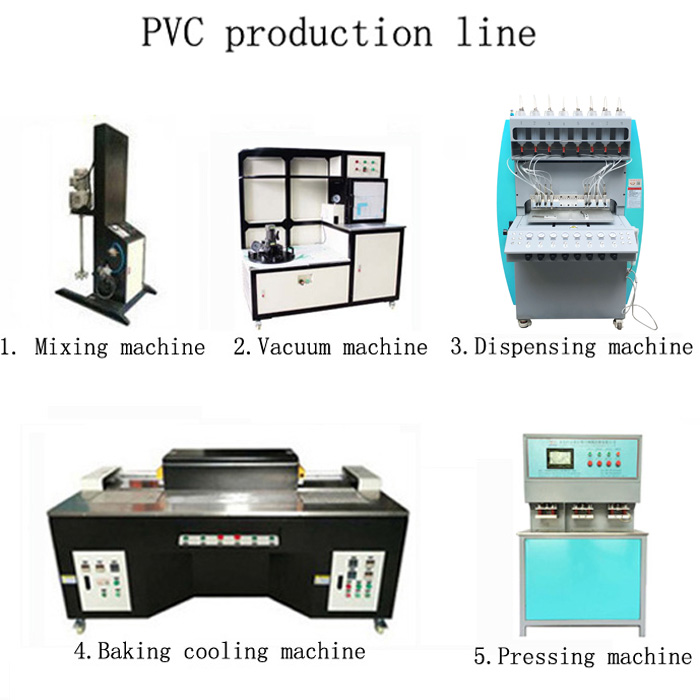 pvc related machine 8 colors