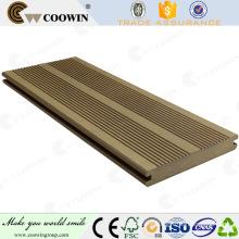 plastic decking made in Japan wpc decking/ 145mm & 105mm Brown Bracket type Trait wood plastic composite outdoor flooring