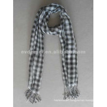 Custom cheap plaid pashmina shawl scarf