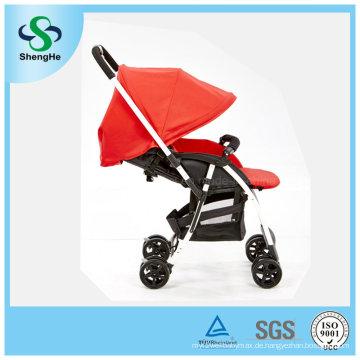 Neuer Entwurfsumkehrbarer Aluminiumlegierungs-Baby-Spaziergänger mit justierbarer Fußstütze (SH-B11)