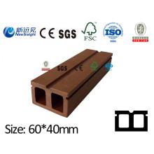 60X40 WPC Joist Decking Joist WPC quilha madeira composto plástico Joist com SGS CE ISO Fsc para WPC Decking / Wall Painel / Jardim Lhma095