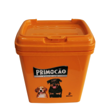 Plastic Pet Food Container with Flip Lid