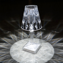 Lampe de table LED en cristal rechargeable portable d'intérieur 5V