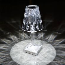 Lámpara de mesa llevada cristal recargable portátil interior 5V