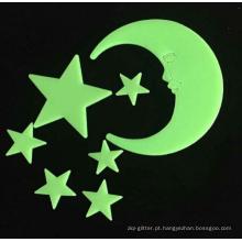 Estrelas de brilho e luas / Removable Wall Stickers brilham no escuro para a decoração do quarto do bebê, presentes românticos adequados para todos os festivais