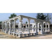 Stein Marmor Garten Gazebo Zelt für Outdoor Garten Skulptur (GR038)