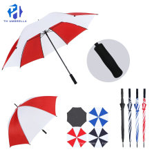 Long Stick Manual Open Golf Umbrella with Color Combination/Fashion Straight Golf Umbrell with EVA Handle