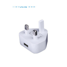 Single USB charger with UK plug