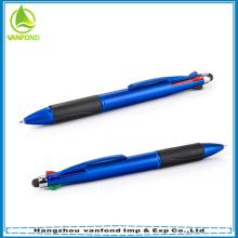 4 cores retrátil de alta qualidade caneta stylus de tela de toque
