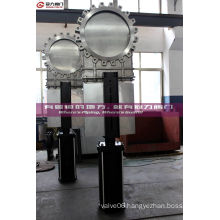 Stainless Steel Lug Knife Gate Valve with Pneumatic Cylinder