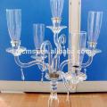 Hersteller Großhandel billig Hochzeit Kristall Kandelaber mit Gold 5 Arme