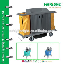 plastic hotel cart for cleaning