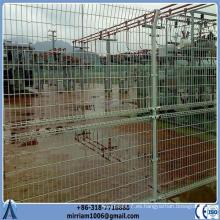 50 * 150mm malla de alambre de metal soldada doble bucle ornamental valla
