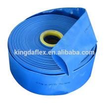 Tubo flexible / tubo de la manguera del conducto flexible de Layplat del producto de la fábrica PVC para la irrigación de la agricultura