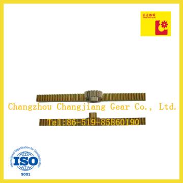 Yellow Zinc Rack Gear Spur Gear