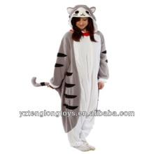Fabrik Großhandel Erwachsene Plüsch Tier Katze Pajama