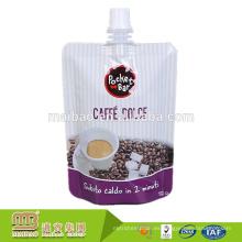 La categoría alimenticia reutilizable del diseño por encargo se levanta la bolsa líquida del paquete de Doy con el canalón