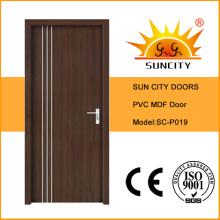Porte intérieure en contreplaqué recouvert de PVC