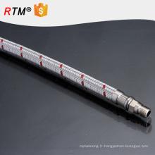 B17 tressé à haute pression tuyau de gaz en acier inoxydable tuyau flexible de plomberie