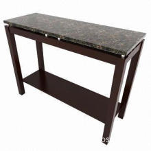 Console Table, Marble Paper Veneer for Table Top