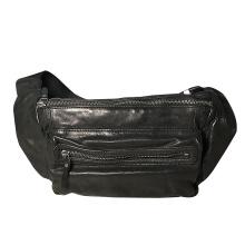 Männer PU Bum Taschen schwarz Taille Gürteltasche