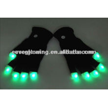 Guantes de flash LED para fiestas.