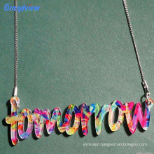 Customized Color glitter/ Fancy acrylic sheet for making necklace