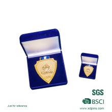 Presente feito sob encomenda da lembrança da medalha do ouro do metal 3D feito sob encomenda