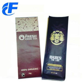 Amostra grátis Stand Up Kraft Paper Coffee Bags