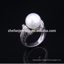2018 new fashion sterling silver pearl ring settings