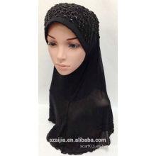 Bufanda de mousseline sólido de señoras nuevas de moda con joyería