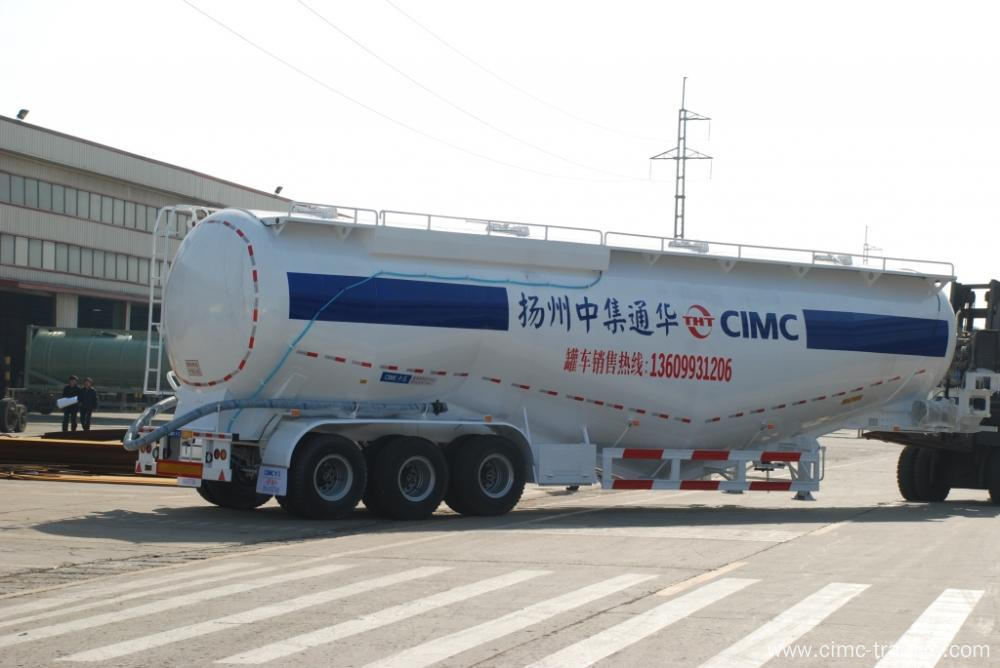 Tri-axle Cement Bulk Tank Semi-Trailer