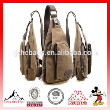 Bolso de hombro del hombre de la nueva moda bolsas de mensajero de la lona del deporte viaje al aire libre ocasional que camina la bolsa de mensajero militar