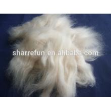 Oveja lana abierta tops blanco natural