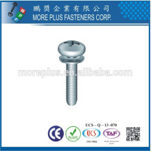 Fabricado em Taiwan Phillips Pozi Cheese Fillister Head Screws e Customize Conical Crest Cup Washers Assembleed SEMS Screws