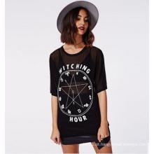 Melhor Preço Verão Moda Verão Mulheres Vestuário Ladies Blusa