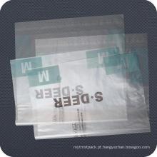 O costume imprimiu o saco de empacotamento do zíper plástico do PE