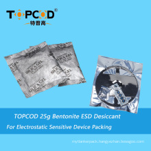 25g Super Dry Desiccant Montmorillonite ESD Clay Desiccant Pouch for Electronic Moisture
