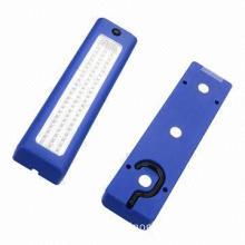 72-piece LED hook magnet work light, measures 22x6x3.4cm