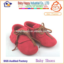 chinese branded first walk soft sole leather baby shoes
