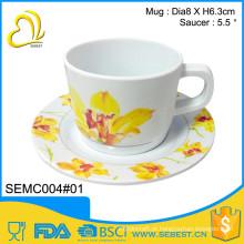 o costume da novidade imprimiu grupos redondos do copo de chá da melamina