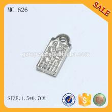MC646 Logotipo de alta calidad grabado encantos pulsera personalizada