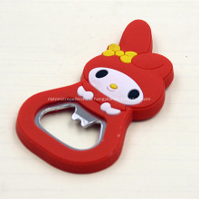 Promotional PVC Custom Shaped Bottle Openers With Magnet